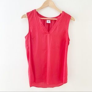 Cabi sleeveless coral/red blouse S